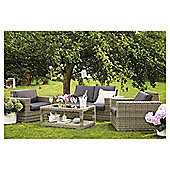 Oxford Rattan 4-piece Garden Furniture Set