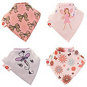 Zippy Truly Girly Bandana Dribble Bibs, 4 pack,one size