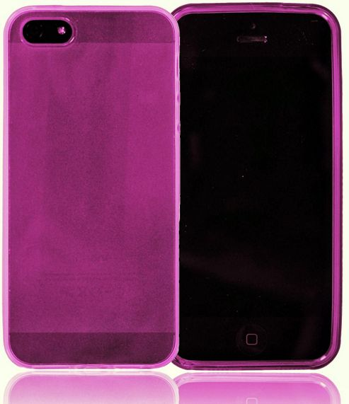 U-bop gSHELL Tough All-Body Gel Case Smoke Pink - For Apple iPhone 5