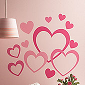 Hearts In Hearts Wall Stickers