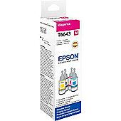 Epson T6643 Magenta Ink Refill Bottle (70ml) for L-Series Ink Tank