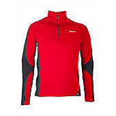 Asgard Men's Zip Neck Top - Red