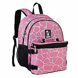Children's Backpack & Lunch Bag - Pink Giraffe
