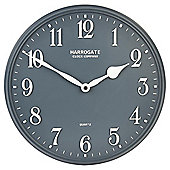 Tesco Resin Wall Clock Dia. 30cm, Dark Grey
