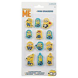 Minions 12pk Mini Erasers