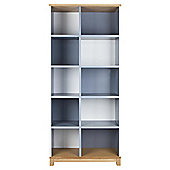 Oslo White & Grey Bookcase, Tall