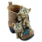 Boot - Playful As A Kitten Garden Flower Planter / Herb Pot