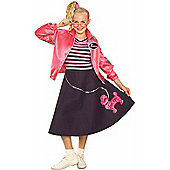 Teen Pink Poodle 50s Costume