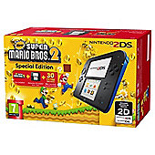 Black and Blue 2DS Console and New Super Mario Bros. 2