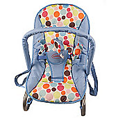 Cute Baby Rocker Bouncer in Blue with Colourful Dots