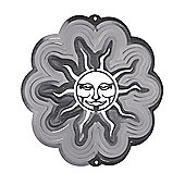 Iron Stop Large Silver Sun Classic Wind Spinner 12in Garden Feature