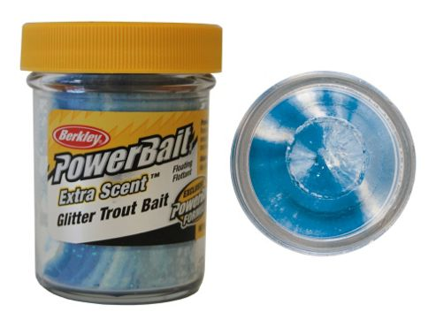 Berkley Powerbait Select Glitter Troutbait Twin Pack - Blue Neon/White