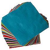 Felt Sq Asst Colours - 100 Pk