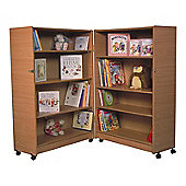 Twoey Toys Hinged Bookcase with Four Shelves - Beech