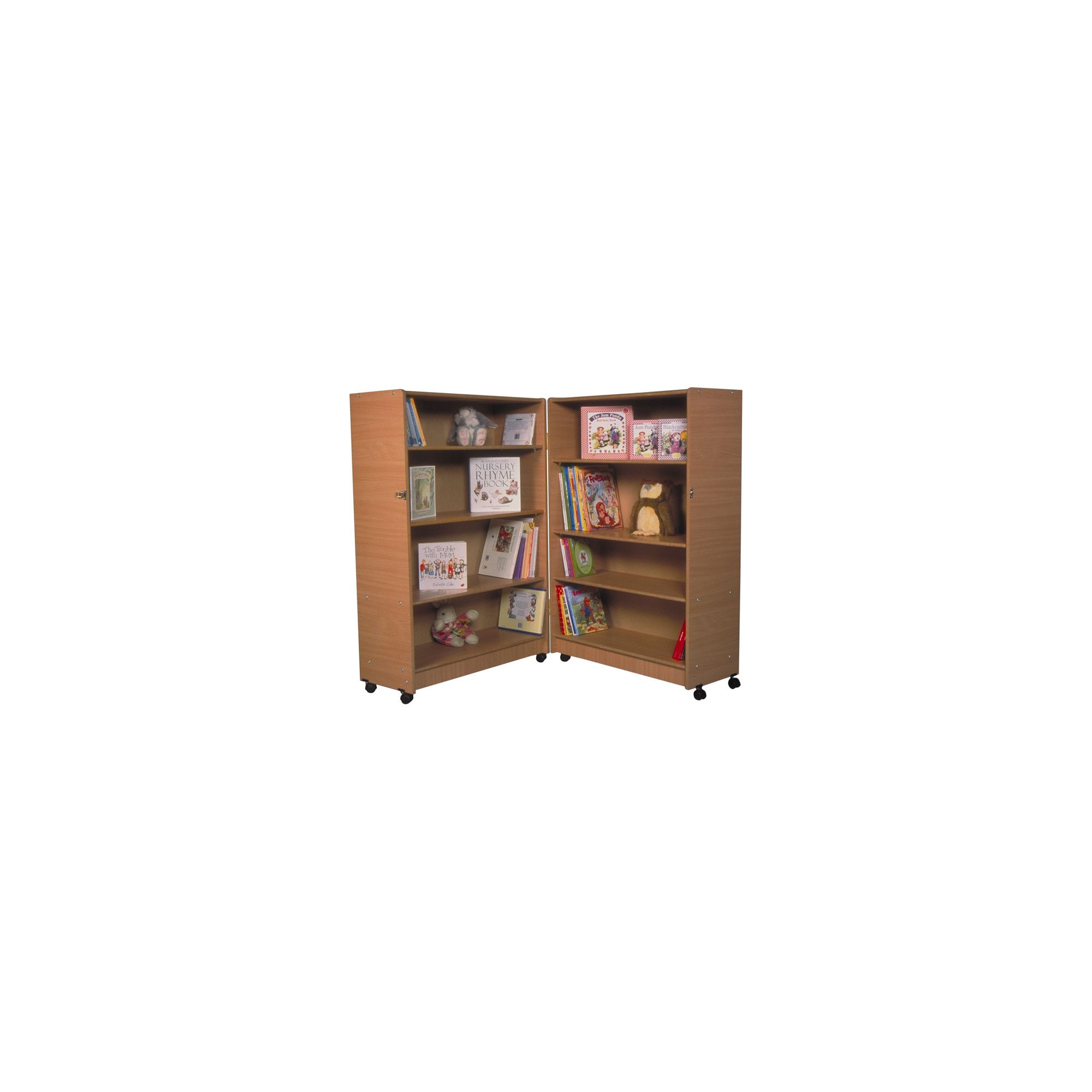 Twoey Toys Hinged Bookcase with Four Shelves - Beech at Tesco Direct