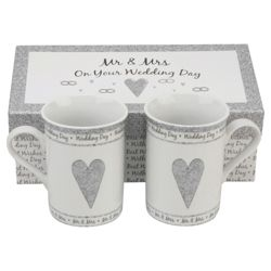 Together Forever Wedding Mug Set