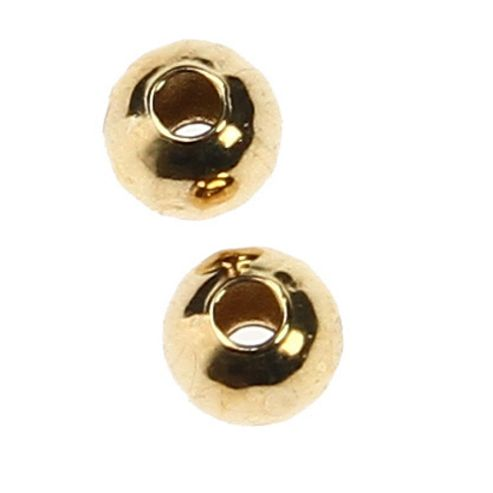 Plated Metal Bead - Gold - 25 Pack