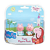 Peppa Pig Once Upon a Time Twin Figure Pack - Peppa Rags & Peppa Riches