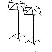 Tiger Dual Pack of Folding Music Stands