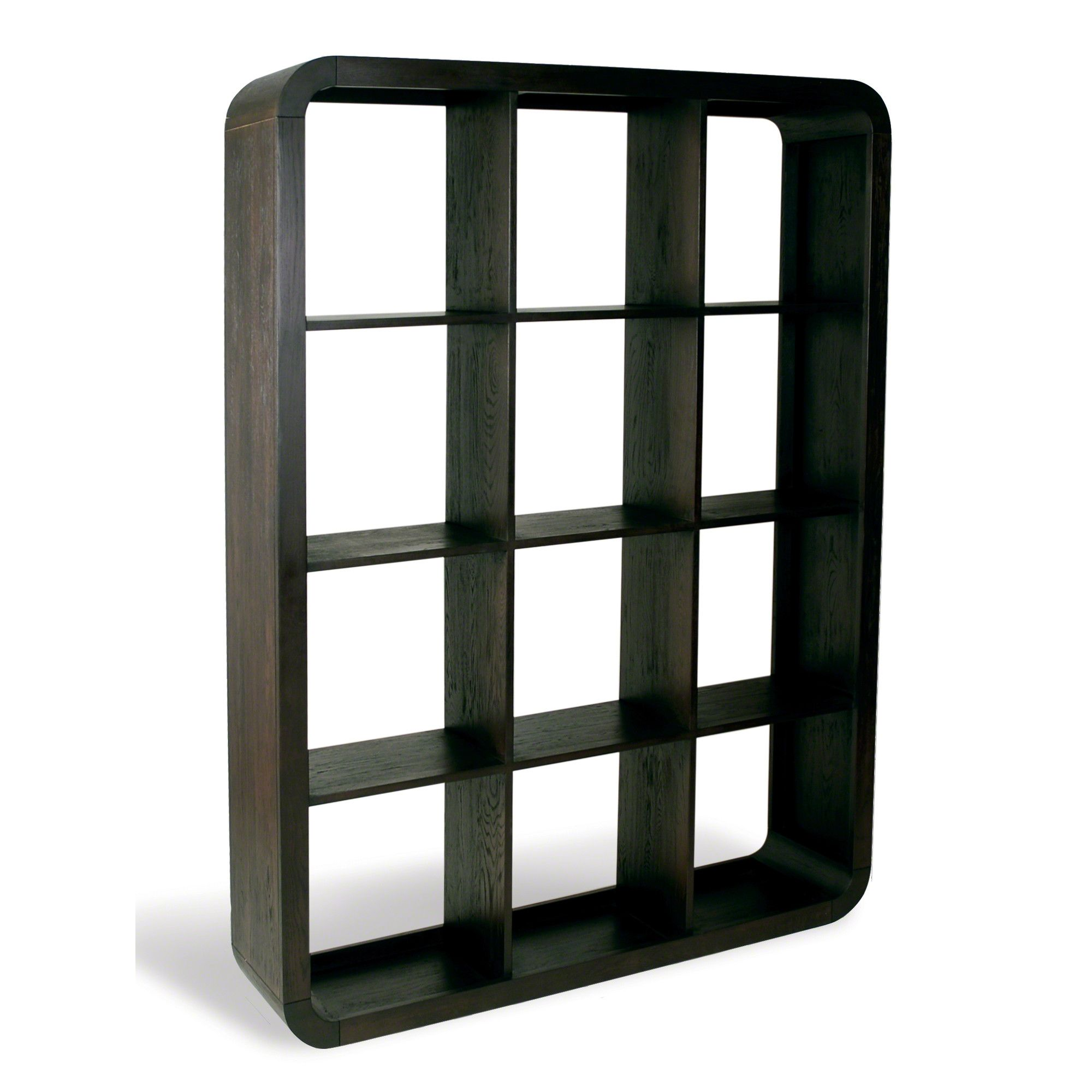 Oceans Apart Cadence Dark Oak Living 12 Hole Shelf Unit at Tesco Direct
