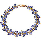 QP Jewellers 7in 7.80ct Tanzanite Butterfly Bracelet in 14K Rose Gold