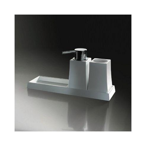 Sonia S7 Freestanding Tumbler and Soap Dispenser in Chrome