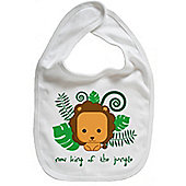 Dirty Fingers New King of the Jungle Cute Lion Baby Bib White
