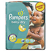 Pampers Baby Dry Size 5+ Monthly Pack - 132 Nappies