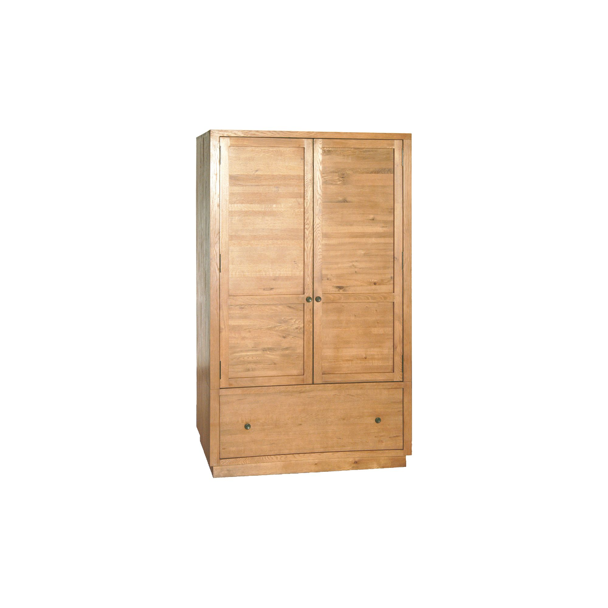 Oceans Apart Orleans Oak One Drawer Wardrobe in Solid American Oak at Tesco Direct