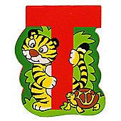 Bigjigs Toys BJL220 Wooden Magnetic Animal Letter Uppercase T (Designs Vary)