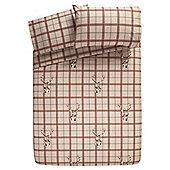 Tesco Stag Print King Size Duvet Cover And Pillowcase Set, King Size