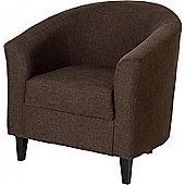 Tempo Tub Chair in Dark Brown Fabric