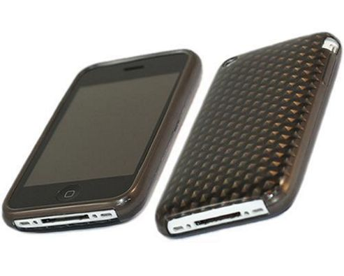 iTALKonline 17490 ProGel Diamond HEX Skin Case for Apple iPhone 3G and 3GS - Solid Black