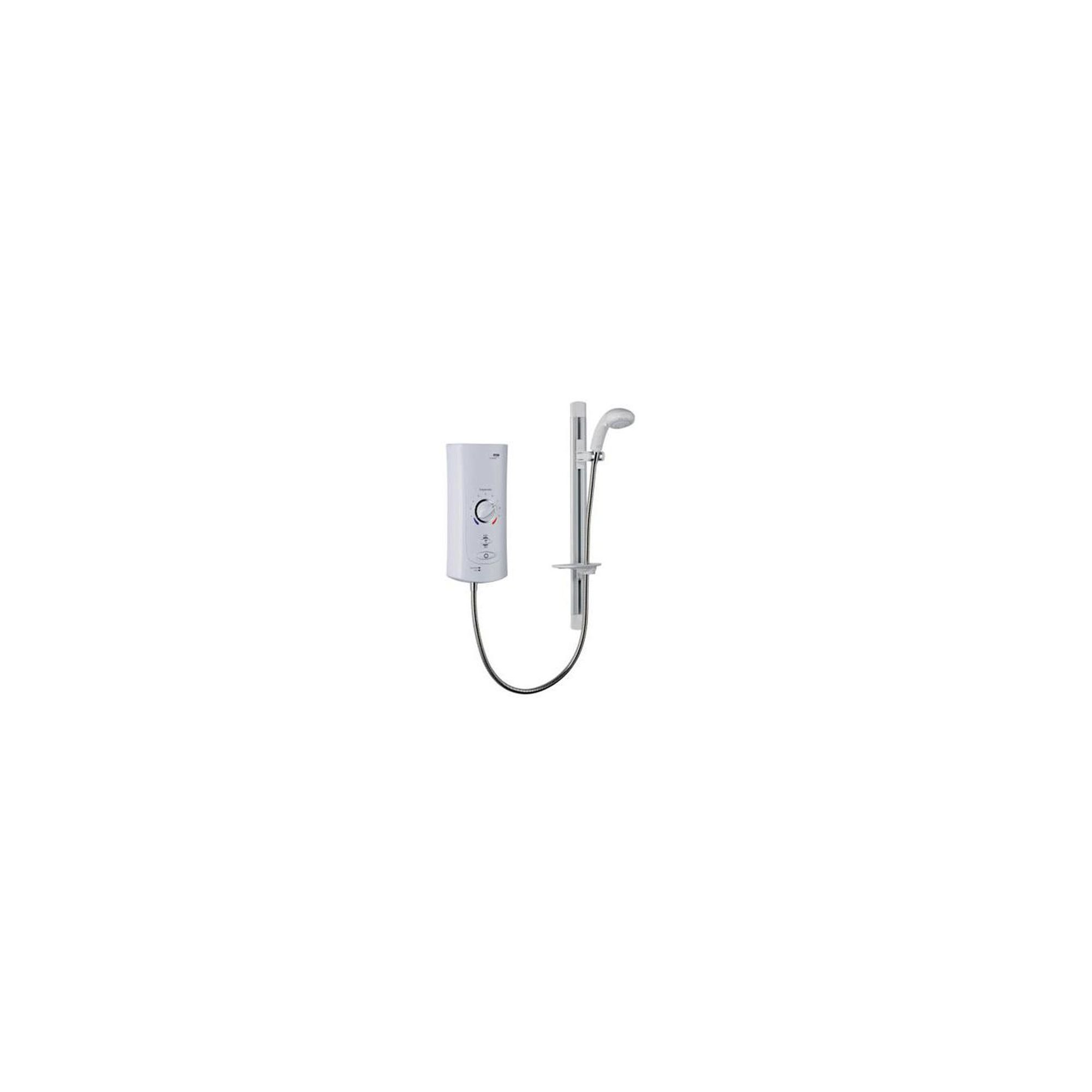 Mira Advance ATL Extra 9.0 kW Electric Shower, Auto Start Whale Pump, White/Chrome at Tesco Direct