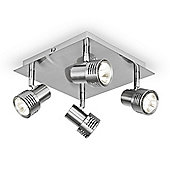 Consul 6 Way Energy Saving GU10 Ceiling Spotlight in Polished Chrome