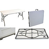 Harbour Housewares Folding, Events, Trestle Table - 5ft Long. Foldable.