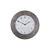Roger Lascelles Clocks Large Lalande Wall Clock with Slate Effect Border
