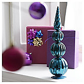 Tesco Teal Bauble Tower