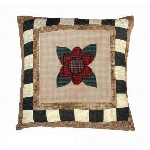 Woven Magic Primitive Sampler Antique Plaids Flower Cushion