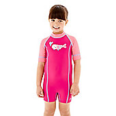 Speedo Girl's Sea Squad Geny All In One Swimsuit Sun Factor 50+ - Pink