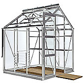 Rhino Premium Greenhouse 6x6 Natural Aluminium Finish
