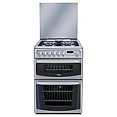 Hotpoint CH60DHSFS, Black, Gas Cooker, Double Oven, 60cm