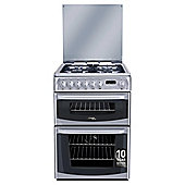 Cannon by Hotpoint CH60DHSFS, Freestanding, Gas Cooker, 60cm, Silver, Twin Cavity, Double Oven