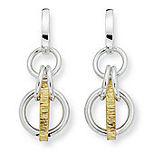 Jewelco London Silver & 18ct Gold - Earrings -