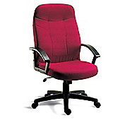 Teknik Office Mayfair Fabric Executive Armchair - Burgundy