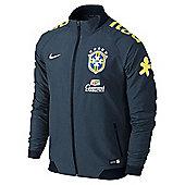 2014-15 Brazil Nike Select Woven Jacket (Navy) - Navy