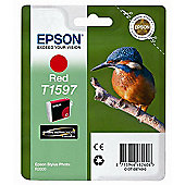 Epson Kingfisher T1597 UltraChrome Hi-Gloss2 Ink Cartridge for R2000 - Red