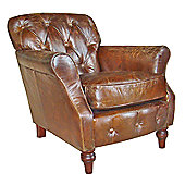 Aspect Design by Wayfair Vintage Button Back Leather Chair