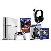 PS4 (White) With BloodBorne, Driveclub, GP3 Headset, PSPlus (3Mth)