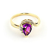 QP Jewellers Diamond & Pink Topaz Belle Diamond Ring in 14K Gold